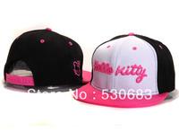 Hello Kitty Snapback cap newest women hello kitty logo leisure baseball caps 3 styles fashion hip hop hat! Free shipping!!