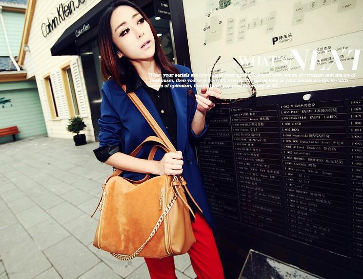 Spring tide handbags fashion matte leather electric blue messenger bag shoulder bag WZ50-333(China (Mainland))