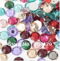 Free shipping!size:2mm,3mm,4mm,5mm Resin rhinestone flatback for mixed normal colors 10000pcs nail art rhinestone