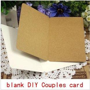 Free Shipping Craft Gifts Scrapbooking Paper Kraft Card Christmas Postcards DIY Book marks Homemade couples card(China (Mainland))