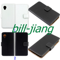 Free mini stylus SCREEN PROTECTOR + Genuine Wallet Stand Flip leather Leather pouch Case Case for LG Google Nexus 5 E980