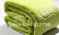 Grass green microfibre bedding blanket throw bedspread light quilts soft cobertores frozen  tapetes queen size air conditioning
