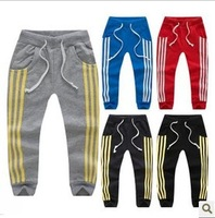 Free Shipping NEW 1PC/Lot 2014 Spring & Autumn Boys Girls Clothing Baby Child Casual Pants Sports Pants Long Trousers Promotion