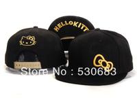 Hello Kitty Snapback cap 3 styles cute Bow pattern baseball caps for women fashion leisure hip hop hat! Free shipping!!