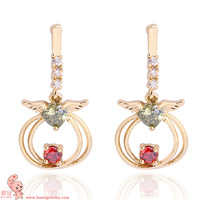 New Arrival  wholesale classic angel  shape stud earring  18K gold plated  KUNIU ERZ0418