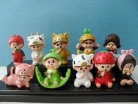 10 Pieces 4~5CM  Monchhchi  Dolls Variety Styls  Action Toys  Figures  WA00134