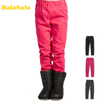 Balabala BALABALA children's clothing female child thermal plus velvet trousers winter pants