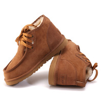 2014 warm winter 100% sheep skin and wool fur snow boots man brown color  man shoes  US 5-9 Y5866