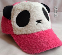 Warm autumn and winter fashion cartoon panda plush baseball hats for men and women