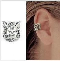 E132  Free Shipping Wholesales Fashion Hollow Type U Clamp Type Retro Ear Cuff Alloy Clip Earring