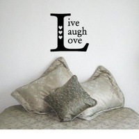 LIVE LAUGH LOVE SQUARE - Family Country Design - Vinyl Wall Room Decal Sticker