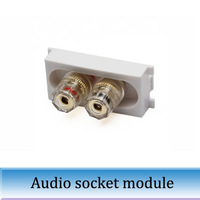 10pcs K86-905 HIFI stereo transparent speakers female seat module audio banana plug socket wiring terminal board
