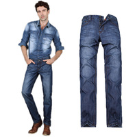 2013 new winter Cotton men's cotton jeans no bomb large size jeans straight jeans 8905