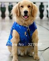 Large Dog Winter Clothes Big Dog Jackets Padded Jacket Snow Coat Clothes Dog Products Free Shipping Wholesale 5pcs/lot