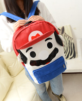 Male Women 2013 backpack school bag cartoon bag student backpack canvas double sided