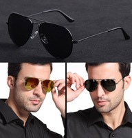 Hot Sale 2013 New Fashion Sunglasses for Men/Women Outdoor Driving 100% Original UV Protection Polarized Lens Big Metal Frame
