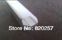 DHL/FEDEX /EMS Free shipping 10pcs/lot 1m LED profile corner housing 16*16mm with PC cover and end cap