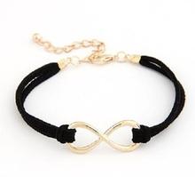 Infinity leather Bracelet Faux Suede Friendship Eternal Love K2005