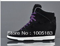 "SKY HI 3"" Wedge Black Sail Court Purple sneakers shoe women 528899  ladies cheap sky Hi wedges high heel sports shoes"