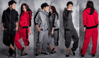 Free Shipping 2013 New Fashion Sportswear Lover Couple Clothing Fleece Hoodies Sweatshirts Sport Suit Cardigan+Pants Tracksuit