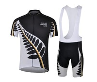 Leaves black and white short-sleeved jersey suit strap summer dress genuine new bike cycling jersey