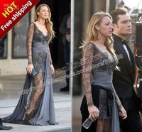 Vestido de Blake Lively Zuhair Murad Dress evening formal gowns Party dresses Silver lace Gossip girl prom dresses Babyonline