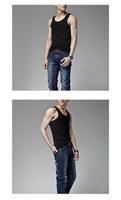 1PC New Fashion Black Gentle Man Men's Active Cotton Sleeveless Solid Underwear Tank Tops, Free Shipping