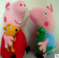 Peppa pig pepe family set doll pink pig plush cartoon toy for baby boy and girl( one order of any one piece) 30cm height