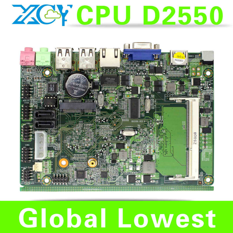 In Stock !! D2550 mini mainboard motherboard desktop micro atx mainboard support win 7 XP system(China (Mainland))