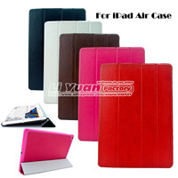 Ultra Slim Thin PU Leather Case For iPad 5 Air,Luxury Crazy Horse Smart Magnetic Cover For iPad 5 Air,1PCS Free Postage