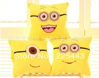 top sale minion pillow soft plushed bolster cushion despicable me pillow free shipping