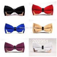 Retail-13 Colors Stylish Fashion MEN'S BOWTIE MEN TUXEDO BOW TIE Metal Head Bowtie ,Freeshipping