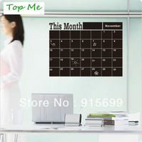 A Chalkboard Calender Wall Decal with Extra Note Panel 206