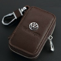 Genuine Leather Remote Control Bag For VW Volkswagen Tiguan Polo Golf Sagitar cc Scirocco PASSAT EOS Jetta key Bag Key Case
