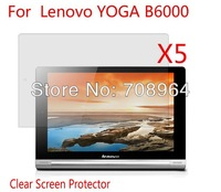 5xNew Clear Screen Protector Guard Film For Lenovo YOGA B6000 8'' Tablet PC With Retail Package,Free shipping!