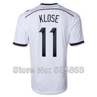 Free shipping!2014 Brazil World Cup Germany fans soccer jersey National teams Germany 11#KLOSE white jersey man training shirts