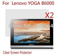 2xNew Clear Screen Protector Guard Film For Lenovo YOGA B6000 8'' Tablet PC With Retail Package,Free shipping!