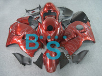 Complete fairing kit for GSXR 1300 96-07 1996-2007 GSXR-1300 96-07 GSXR1300 96-07 1996-2007 Red With Sliver Flame
