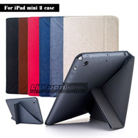 Folding Stand Transformer Leather Case For iPad Mini 2 Ultra Slim Thin Magnetic Smart Cover 50PCS DHL Free Postage