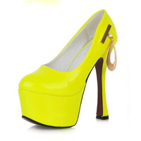 New Sales Women's Sexy Queen Nightclubs 15.5cm ultra high heels Fashion platform party Dance shoes pumps shoes