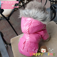 New Arrival Rose Wadded Jacket Windproof Dog Jacket Thick Double Layer Pet Clothes Dog Clothes Size L, XXL Availalbe