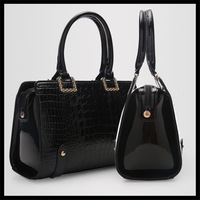 2014 new the trend of female fashion crocodile pattern handbag one shoulder cross-body women's handbag big bag