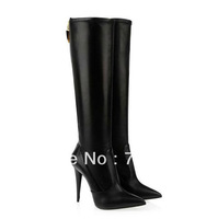 Pointed Toe Sexy Women Boots Black Gladiator High Heel Winter Boots Fashion Motorcycle Boots for Women