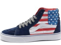 hot sale classic high quality canvas shoes sneakers shoes breathable ameraca flag high cut  plus size35-45