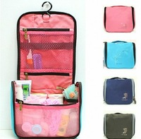 Free Shipping 2013 Travel Check Waterproof Storage Cosmetic Bag Picnic Sorting Hanging Wash Bag Organizer Case 4 Color 035