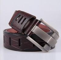 Wide cowboy belts Hot Sale fashion men'sleather belt Contracted joker Pin buckle belts The cowboy belts