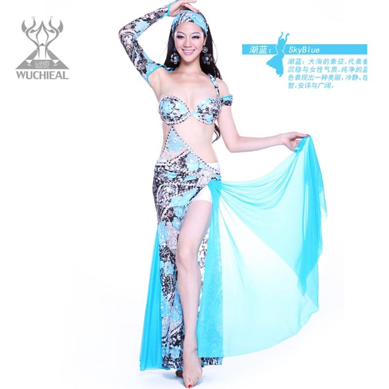 de haute qualité rouge sexy professionnel belly dance costumes qc2133 performance sur scène
