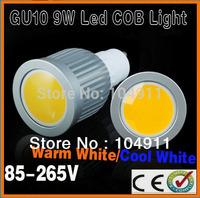 2014 New Lamps GU10 9W led COB Spotlight Bulbs LED Ceiling light/down light Warm White/Cool White 110-240V Super Bright Lights
