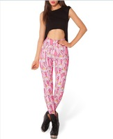 New Arrival! HOT DALE Sexy Fashion Pirate Leggings Galaxy Pants PINK COLOR Digital Printing LEGGINGS For Women K217