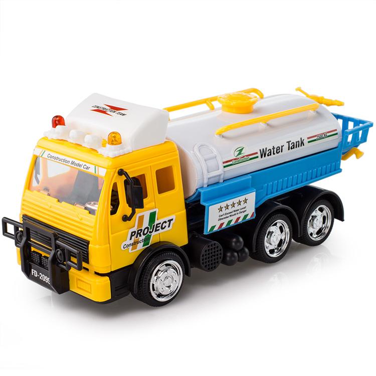 Eco-friendly toy car wireless remote control garbage truck sanitation trucks electric remote control sprinklina car hang drum(China (Mainland))